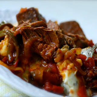 Swiss Steak {crock Pot Recipe}.