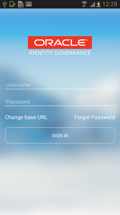 Oracle Identity Governance- screenshot