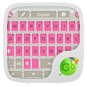 Pink Suit GO Keyboard Theme