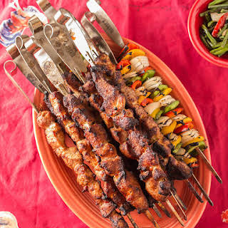 Grilled Pork Tenderloin Skewers with Thai Sweet Chili Sauce.