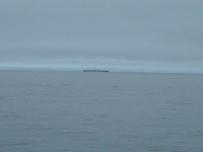 Photo: The Alaska Ferry heading north up Stephens Passage in the fog.