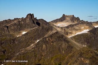 Photo: The peaks Storstolpan and Hollendaren, on Kvaløya outside Tromsø
