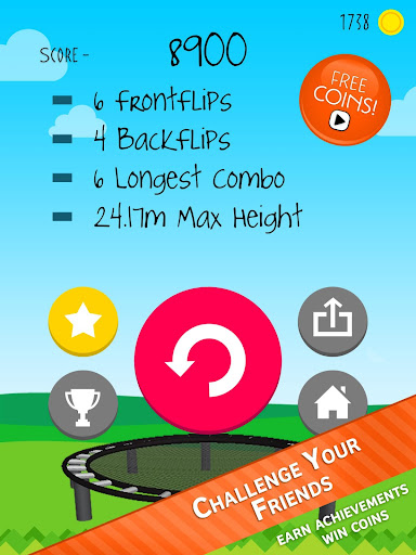Stickman Trampoline FREE Backflip Jump Flip Master modavailable screenshots 10