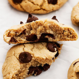 Coconut Oil Cream Cheese Chocolate Chip Cookies