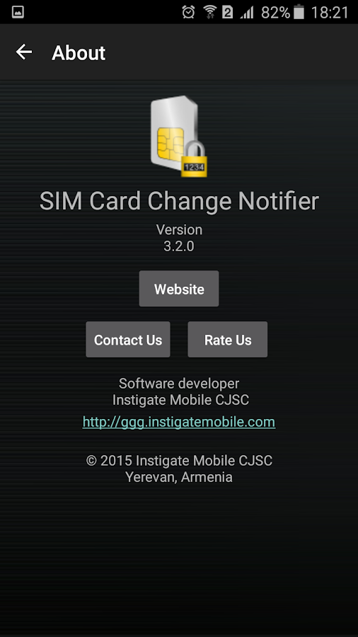 SIM Card Change Notifier- screenshot