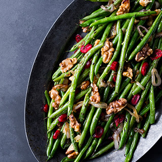 Roasted Green Beans with Walnuts, Lemon and Cranberries