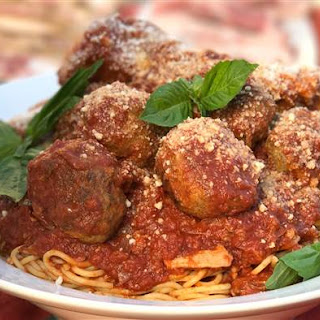 Tony Danza's Sunday Sauce with Meatballs and Ribs.