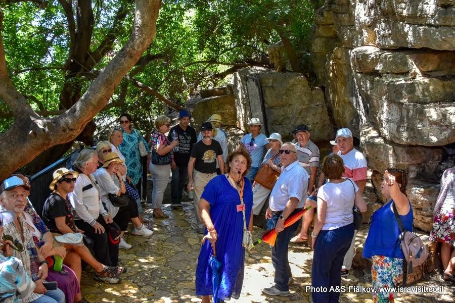 Экскурсия гида в Израиле Светланы Фиалковой у пещеры - убежища Рабби Шимон Бар Йохайа и его сына Элиазара.