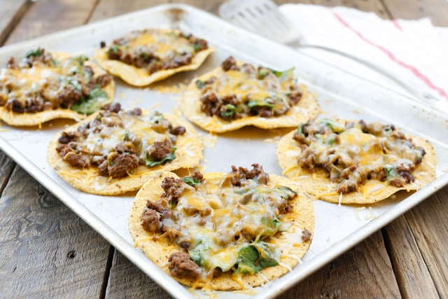 Beef, Black Bean, and Spinach Tostadas Recipe