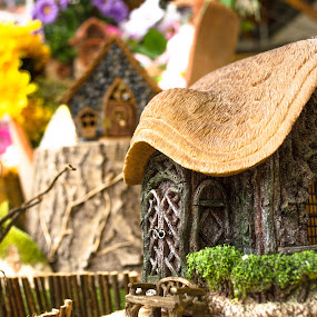 Fairy cottage  by John Haswell - Novices Only Objects & Still Life ( doors, life, mystical, window, cottage, ornament, fairy, door, still, windows, house, bokeh, aperture,  )