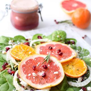 Winter Citrus Fruit Salad with Pomegranate Rosemary Vinaigrette