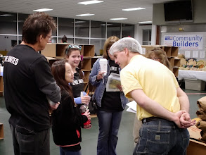 Photo: Preparing to pack Macaroni & Cheese on April 23rd 2013 with the United Way & Kids Care - Outreach Inc