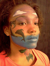 Photo: Beach Scene face paint by Teressa, Santa Ana, Ca.Call to booked Teressa for your next event: 888-750-7024