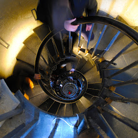 stairway to hell by Tyler Sleap - Abstract Fine Art ( circular, england, stairs, london, perspective, monument, circle, spiral )