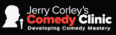 Jerry Corley's Comedy Clinic Logo Breakthrough Comedy Writing System