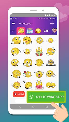 💘WhatsLov - 愛的笑臉、貼紙和GIF screenshot