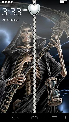 Skull Horror Zipper LockScreen
