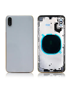 iPhone XS Max Back Housing without logo High Quality Silver