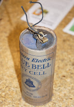 Photo: A vintage telephone dry cell.