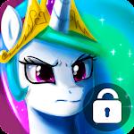 Beautiful Celestia Little Unicorn Lock Screen