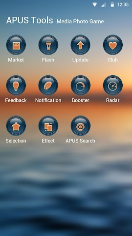 android The Sunset theme for APUS Screenshot 2