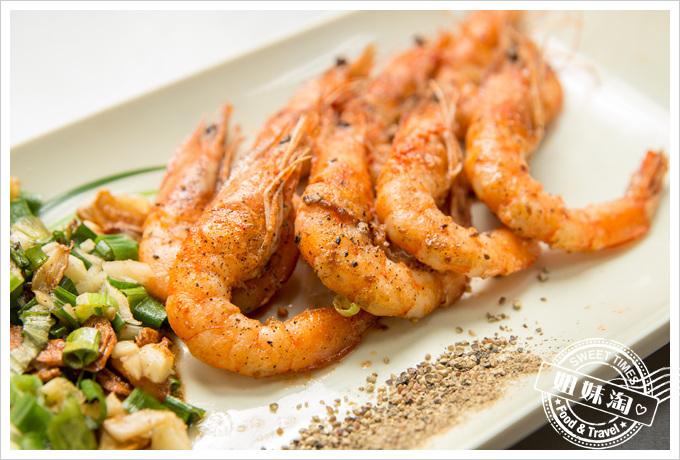 冠滋平價鐵板燒乾煎鮮蝦