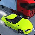 Traffic racing: speeding highway icon