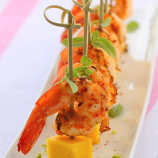 Ingredient List For The Spicy Shrimp Tapas With Mango.