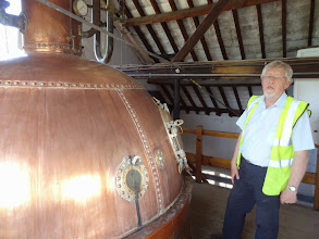 Photo: Elgood's historic copper brewkettle looks like something from a Jules Verne novel.