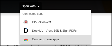 Open With > Connect More Apps