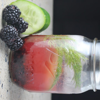 Blackberry Vodka Cocktail with Dill & Cucumber