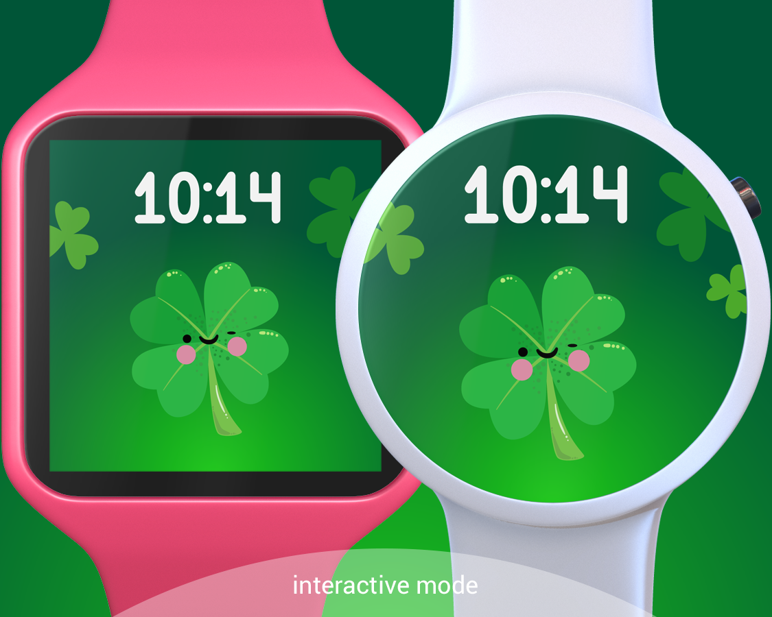 st patrick day cute watch face android apps on google play