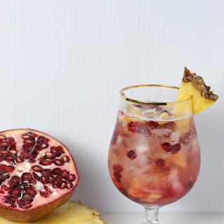 Pomegranate Pineapple Prosecco Fizz.