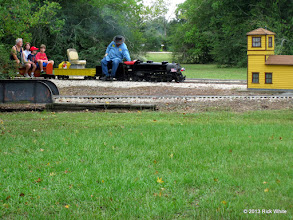 Photo: 1106   Engineer Pete Greene pulling into Sumrall for water.    HALS Public Run Day 2013-0921 RPW