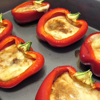 Stuffed Bell Pepper With Mozzarella.
