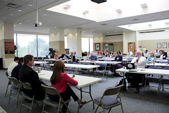 Photo: The biological stressors and aides panel listens to audience questions.