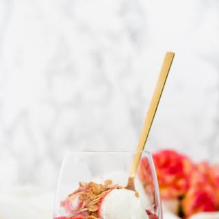 Strawberry Rhubarb Toasted Oat Sundae.