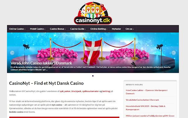 CasinoNyt - Find et nyt dansk casino