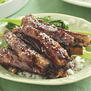 Lamb Ribs with Sesame and Soy.