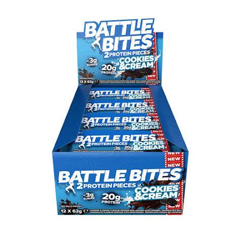 Battle Bites Protein Bars 12 x 62g - Cookies & Cream