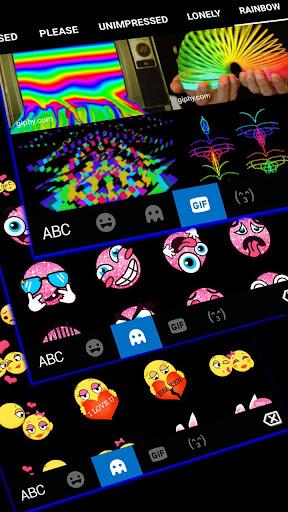 Blue Black Keyboard Theme 1.0 screenshots 4