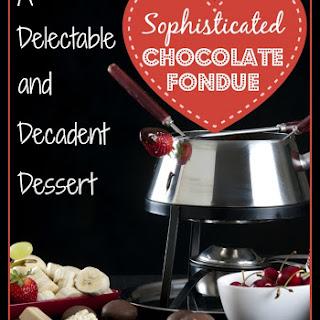 Dark Chocolate Fondue Recipe with Honey and Cognac