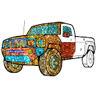 Cars Glitter Color by Number-Vehicle Coloring Book icon
