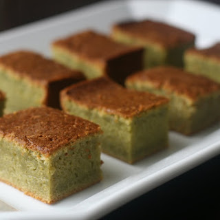 Green Tea Mochi Cake.