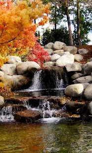 Nature live wallpaper (autumn, waterfall, rain) - náhled