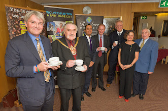 Photo: A Fairtrade certified tea tasting session at Wolverhampton with Andrew Mitchell, Bert Tuner and Lord Bilston.