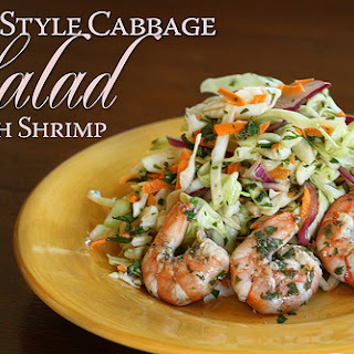 Thai Style Cabbage Salad.