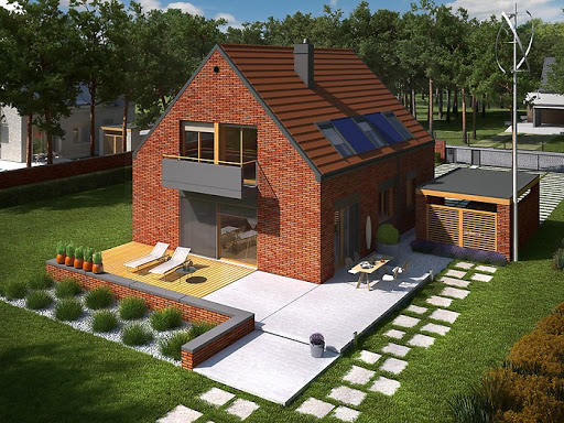 projekt E9 z wiatą wersja B Energo Plus