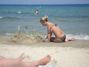Photo: Orsi és a homokvára :)