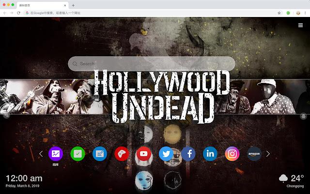 Hollywood Undead 火爆音乐 新标签页 高清壁纸 主题